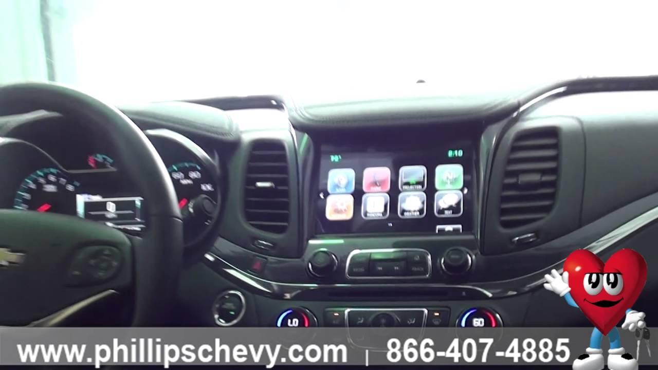 Phillips Chevrolet 2016 Chevy Impala Ltz Interior Walkaround Chicago New Car Dealership