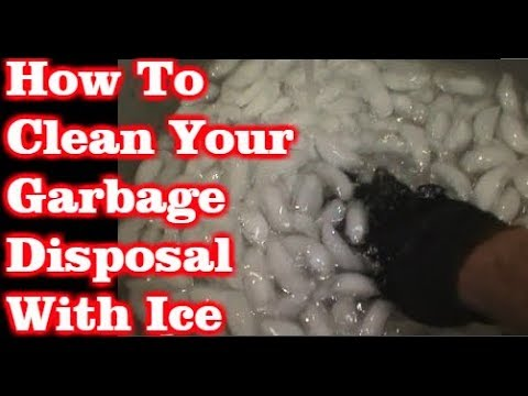 How To Clean Out A Garbage Disposal With Ice