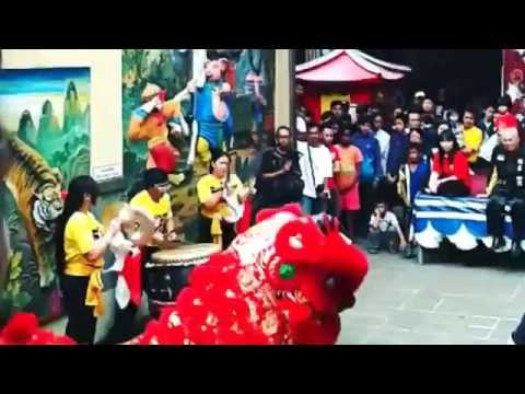 Chinese New Year 2015 Lion Dance (Barongsai) In Indonesia