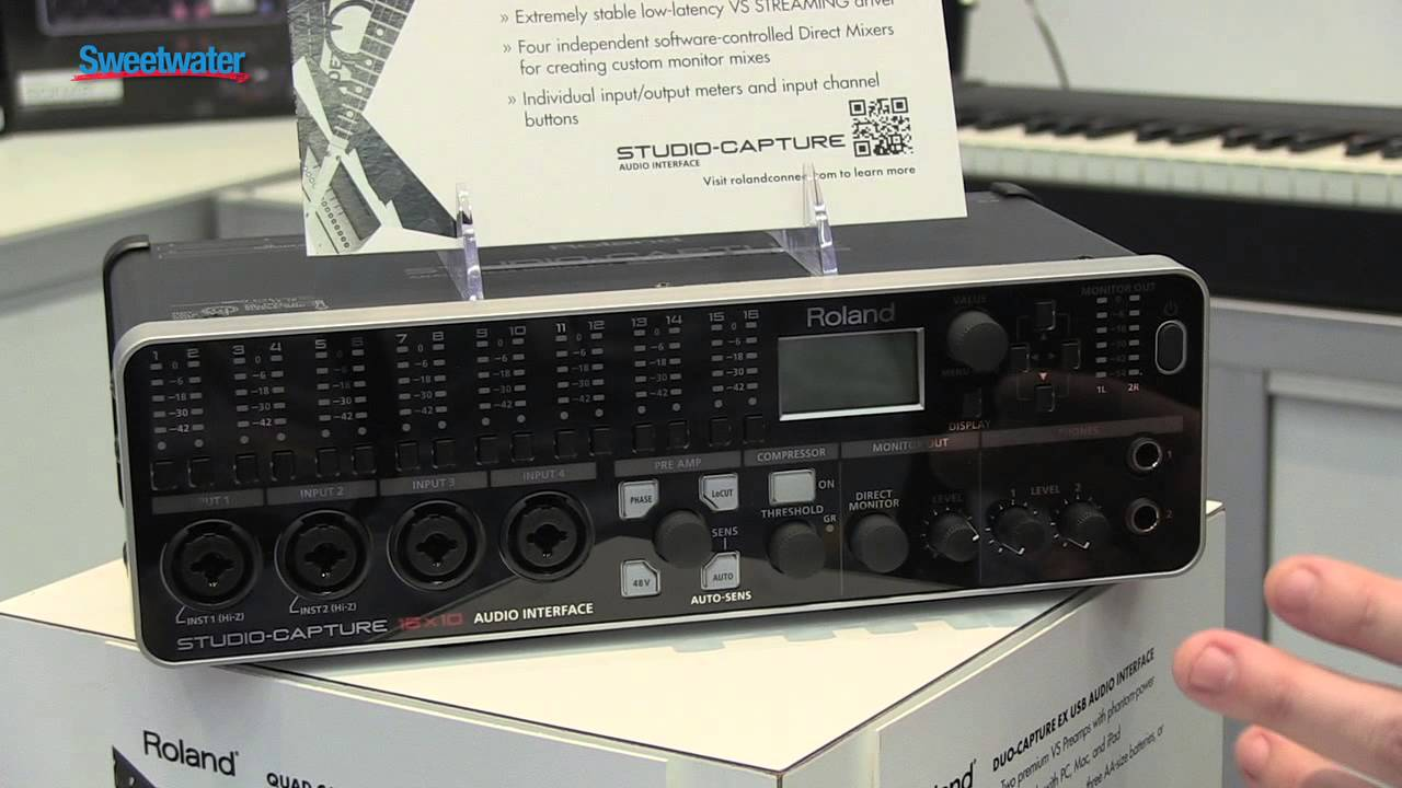 Roland Studio Capture USB Audio Interface Overview - Sweetwater Sound at  Winter NAMM 2013