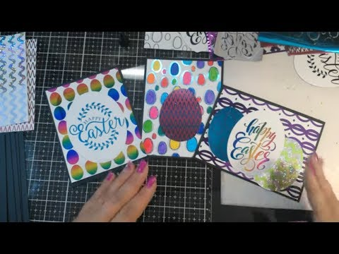 Double Foiling Easter Cards