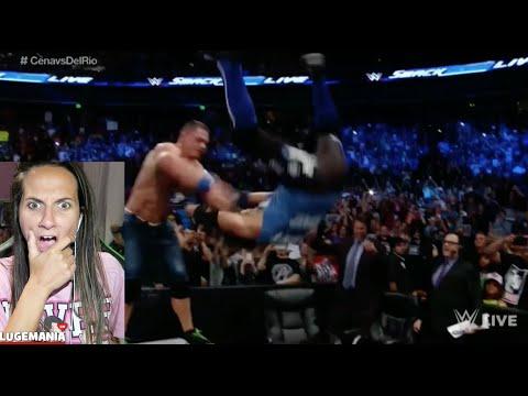 WWE Smackdown 8/16/16 John Cena vs Alberto Del Rio