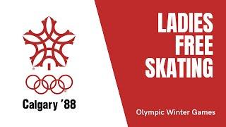 Ladies Free Skating Winter Olympic Games Calgary 1988