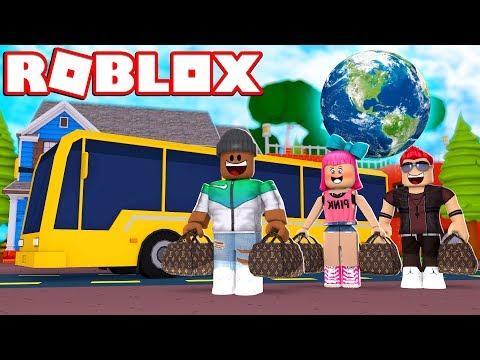TRAVELING AROUND THE WORLD!!   Roblox Ro-Trip