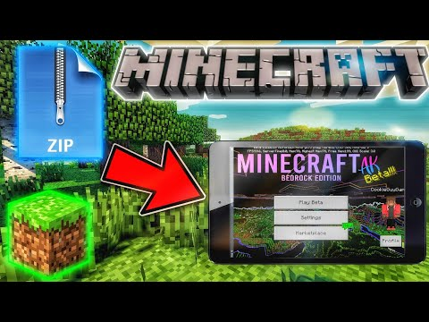 MCPE- How To Download And Install .Zip And .Mc Files! 2020
