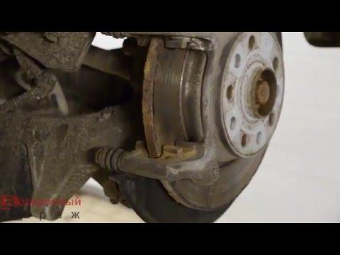 VW Tiguan замена задних тормозных колодок