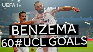 Watch all of KARIM BENZEMA's 60 #UCL goals