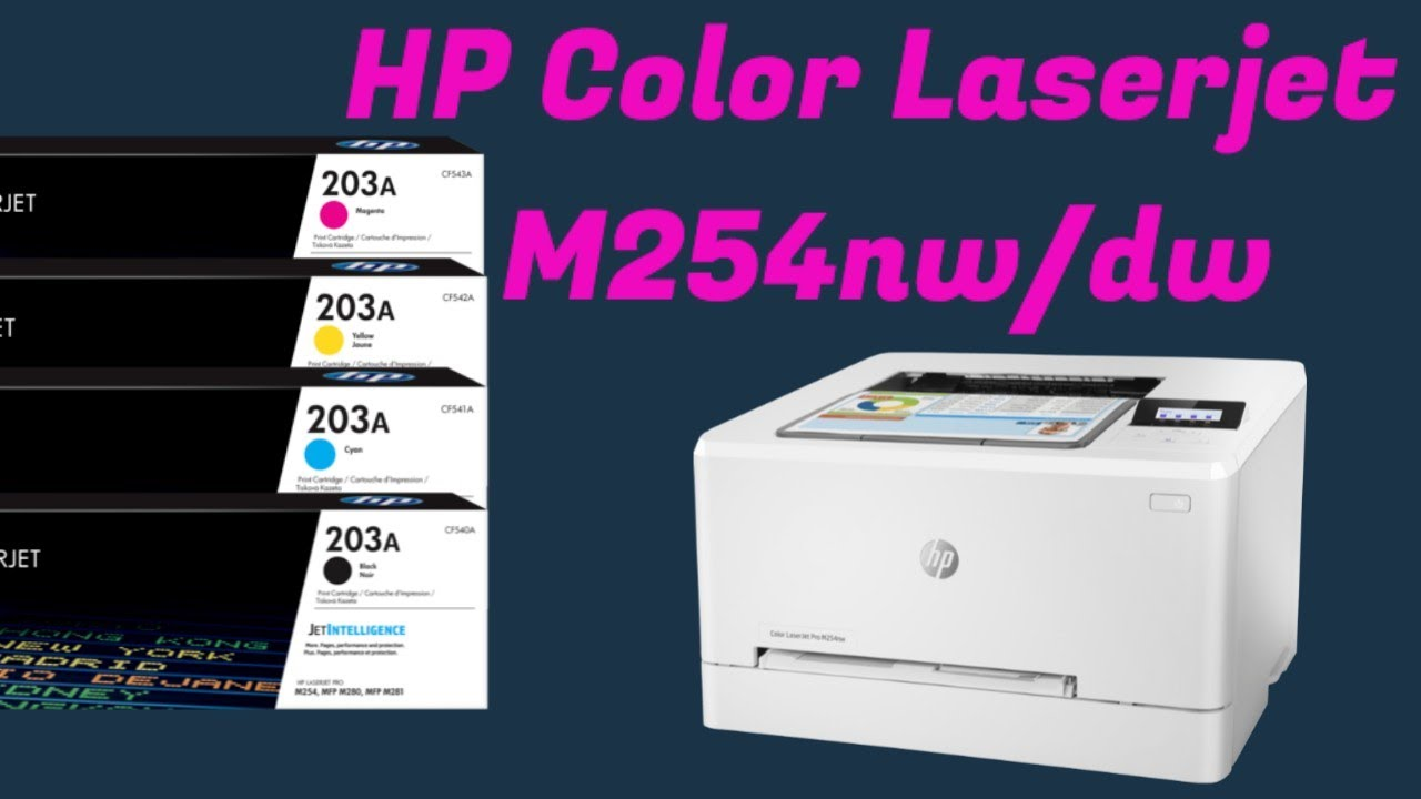 How To Replace Toner Cartridge On Hp Color Laserjet Printer Pro M254dw Youtube