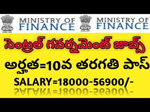 ministry of finance and department of expenditure recruitment for the canteen attendent posts telugu
