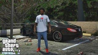GTA 5 REAL LIFE CJ MOD #122 - LAMAR GOT A NEW CAR!!!(GTA 5 REAL LIFE MODS/ THUG LIFE)