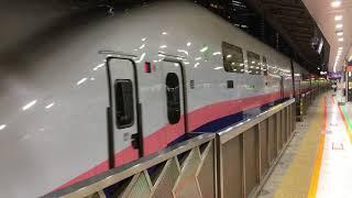 上越新幹線E4系新ニシP14編成+E4系新ニシP7編成Maxとき・Maxたにがわ343号新潟・越後湯沢行き東京駅発車