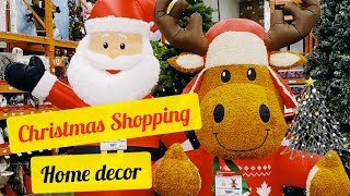 Christmas Shopping! | Home Decor | LOWES Home Improvement | HOMESENSE | HOME DEPOT Tour! | Canada