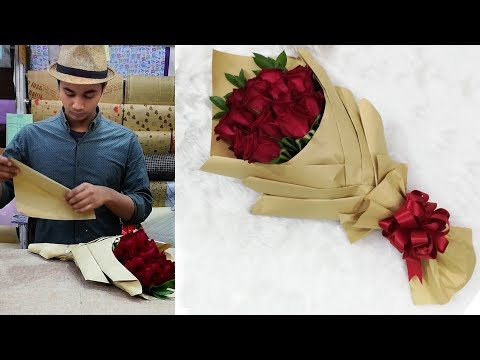 How to wrap a bouquet of flowers || Flower wrapping ideas 2019 with bouquet wrapping techniques Mp3