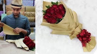 How to wrap a bouquet of flowers    Flower wrapping ideas 2019 with bouquet wrapping techniques