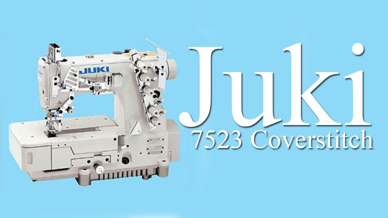 Juki Coverstitch MF 7523 Sewing Sample on 1 to 3 layers