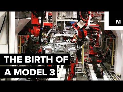 Tesla Model 3 in the factory