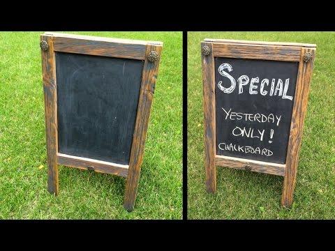 Diy Chalkboard Sidewalk Sandwich Signs