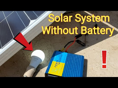 Solar Panel and Inverter Without Battery