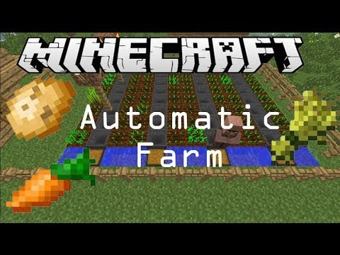 Automatic Wheat Potato Carrot Farm Minecraft Tutorial No Planting Needed Works In 1 8 Youtube