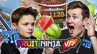 BROTHERS PLAY FRUIT NINJA