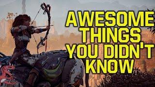 Horizon Zero Dawn AWESOME THINGS you DIDN'T KNOW (Horizon Zero Dawn Gameplay PS4 Pro)