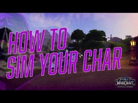 How to Sim Your Character in World of Warcraft