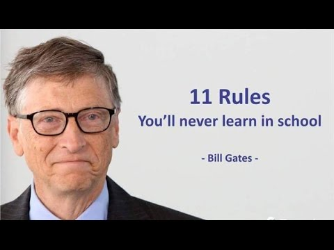 Bill Gates Quotes Awesome Bill Gates 48 Rules You Will Never Learn In School Bill Gates