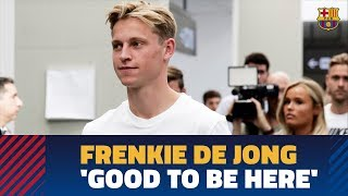 Frenkie De Jong: 'I'm very happy to be here, it's a dream'
