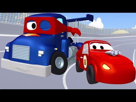Super Truck et la Voiture de Course à Car City | Dessin animé pour les enfants