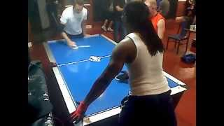 Professional Air Hockey player Cory Dzbinski VS Blade Brown - 2012 Air Hockey World Championship