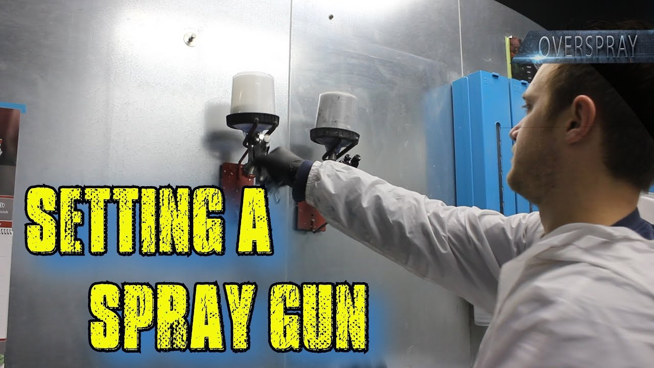 how to set up a paint spray gun youtube. Black Bedroom Furniture Sets. Home Design Ideas