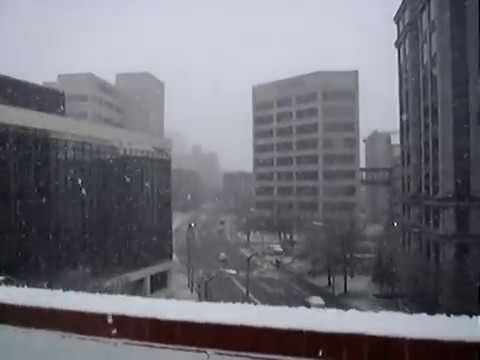 A SNOWY ride on the US Hydraulic Elevator @ Elmwood Parking Garage Roanoke VA