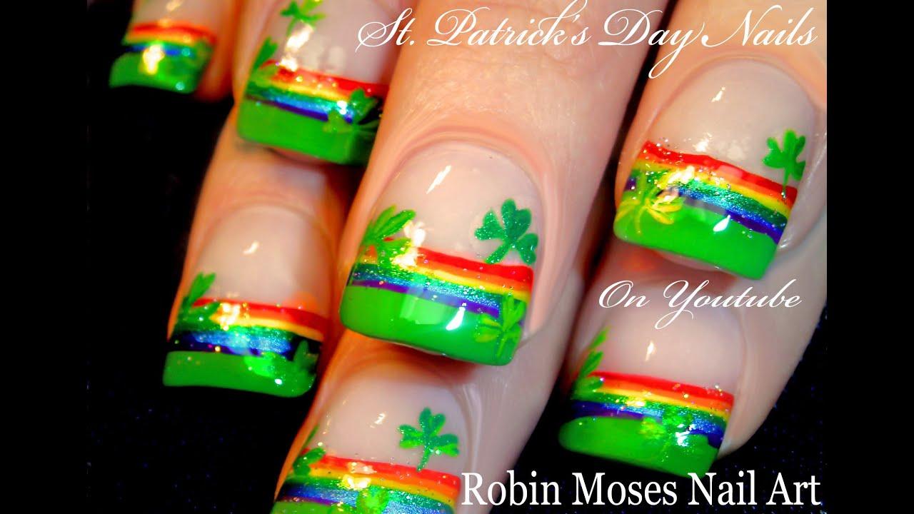 DIY St. Patrick\'s Day Nail Art Design Tutorial - YouTube