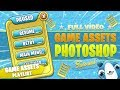 Game Design Photoshop Tutorial - Cartoon GUI + Button Game Assets Tutorial Photoshop + FREE PSD File