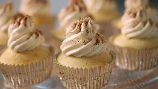 Beth's Egg Nog Cupcakes|| Kin Eats