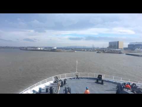 Landing on heysham port
