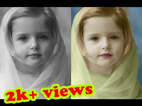 How To Colorize Black And White Oshop Tutorial