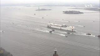 """VOA专访纽约市长白思豪:美国海军""""安慰号""""医院船带来希望"""