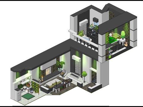 Habbo peque o apartamento moderno youtube for Casas en habbo