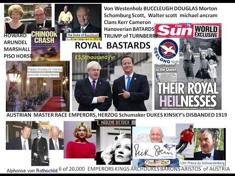 Boris Johnson Cameron Royal Bastards EUs Austro Gerry Master Races Dietrich Kerr Ancram Scott Bucleu