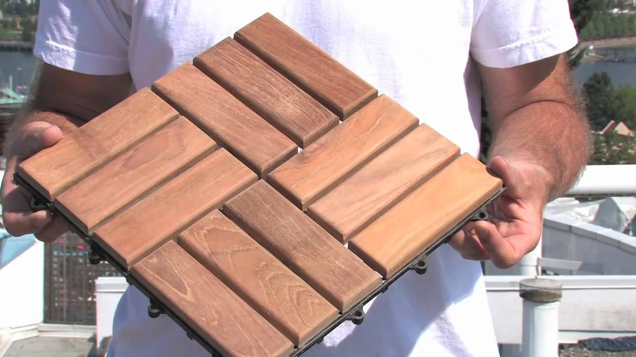 How To Install Deck Tiles - YouTube