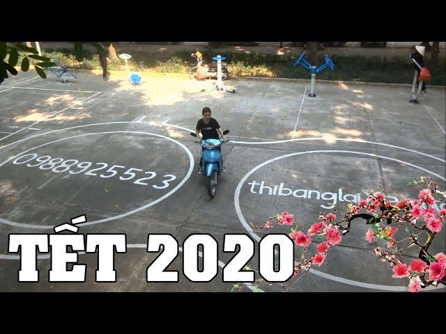 Thi bằng lái xe máy A1 trước tết âm lịch 2021 - Tập vòng số 8 miễn phí