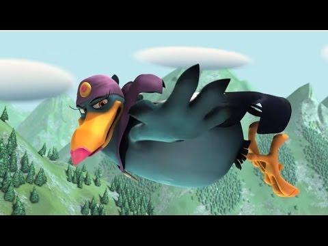 Мультфильм про маленькую ведьму и ворона
