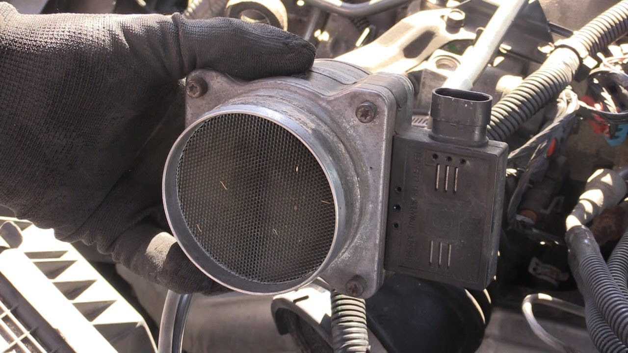 car or truck running bad dirty mass air flow sensor how to clean or replace  [ 1280 x 720 Pixel ]