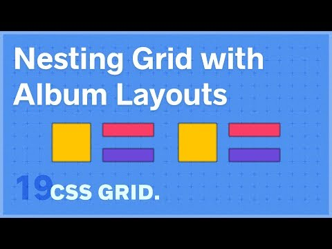 CSS GRID: Nesting Grid With Album Layout Exercise — 19 Of 25