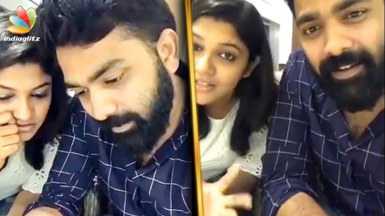 മോശം കമന്റിനു ചുട്ട മറുപടിയുമായി അസ്കർ | Askar Ali  and Aparna FB live | Viral video