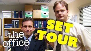 The Office Set Tour with Steve Carell and Rainn Wilson | A Peacock Extra | The Office US