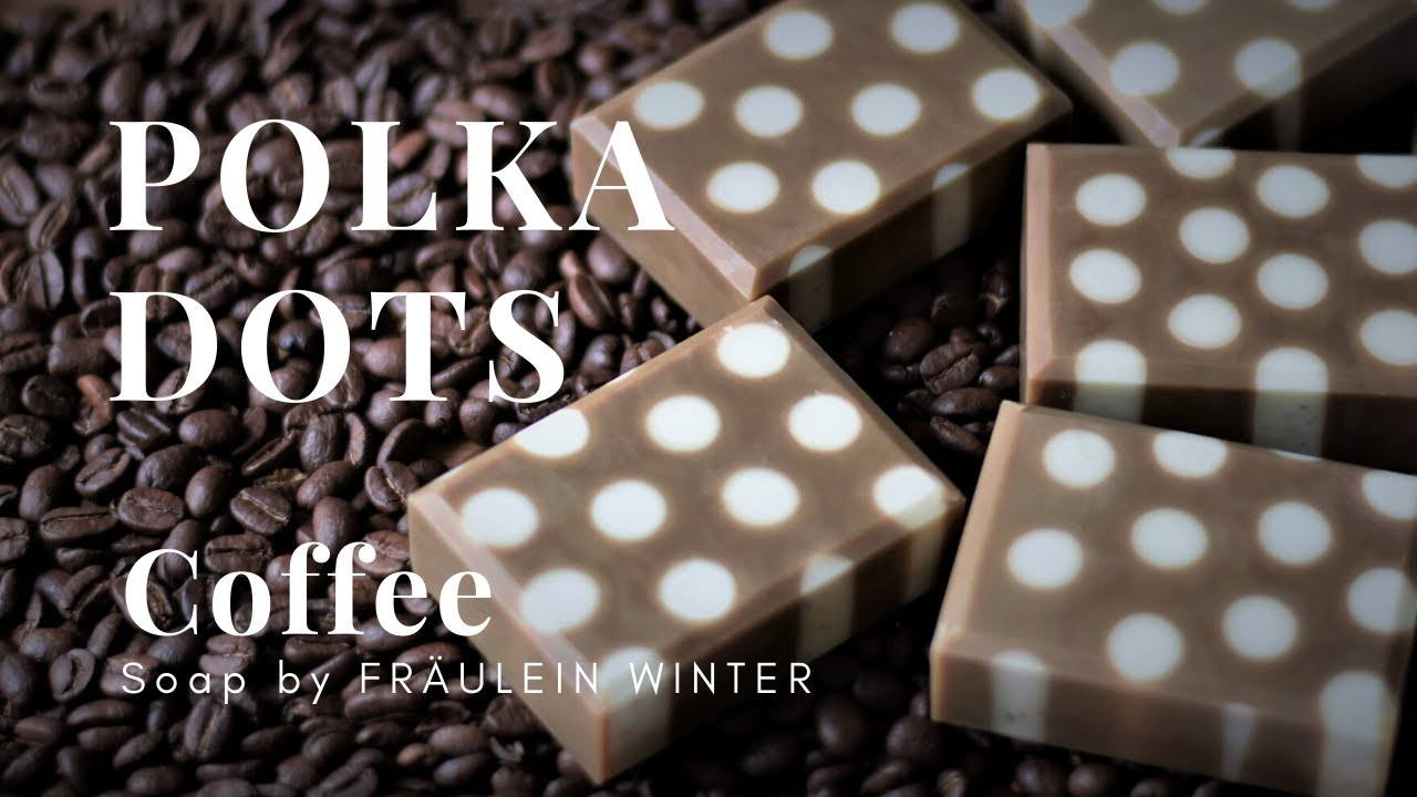 Another way to make Polka Dot Soap - Coffee Soap - Fraeulein Winter