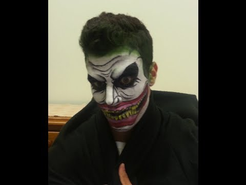 joker face painting tutorial batman youtube. Black Bedroom Furniture Sets. Home Design Ideas