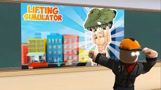 ROBLOX MONSTER SCHOOL : lifting simulator Challenge